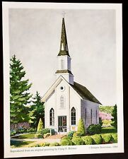 BEAUTIFUL RELIGIOUS ART ARCHITECTURE UNITED STATES CHURCH LITHOGRAPH PAINTING