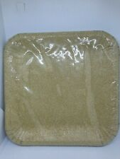 """Gold Glitter Square 10 pack Paper Plates 9"""" Party Birthday celebration"""