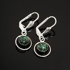 Israel ! Gift Jewelry & Love Fashion design silver earrings natural Eilat stone