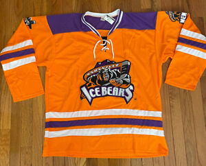 Awesome Knoxville Ice Bears Orange/Purple SPHL Hockey Jersey - Adult XL