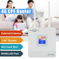 4G Wireless Repeater LTE CPE Router WiFi Sim Hotspot Card LAN Modem Dual Antenna