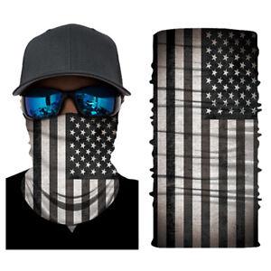 Bandana Cloth Face Mask Facemask Neck Gatier Fishing Shield USA American Flag