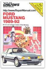 Chilton Ford Mustang 1989-1992 Repair Manual : CH8299