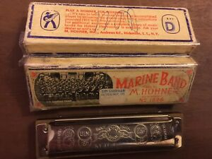 1976 Buddy Guy JUNIOR WELLS AUTOGRAPHED Harmonica USMC Sandy's Beverly, Mass Chi