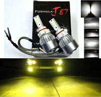 LED Kit C6 72W PS19W 12085 5201 3000K Yellow Two Bulbs Daytime Light DRL Upgrade