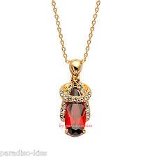 Collana da Donna Cristallo Swarovski Elements Ciondolo Elegante Rosso W97