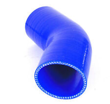 """2.75"""" 70mm blue Silicone Hose Elbow Bend 45 degree Intercooler Or Intake Pipe"""