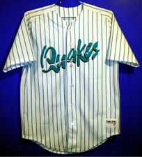 RANCHO CUCAMONGA QUAKES MINOR LEAGUE BASEBALL WHITE PINSTRIPE Size 44 JERSEY