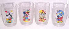 Disney Glass Epcot Animal Magic Kingdom Glasses McDonalds 1990's Lot of 4