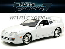 JADA 97375 THE FAST AND FURIOUS 7 BRIAN'S TOYOTA SUPRA 1/24 DIECAST CAR WHITE