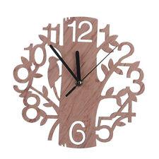 1X(Decorazione del soggiorno della casa con orologio da parete in legno a f HK