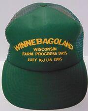 Old Vtg 1980s Winnebago Land Wisconsin Farm Advertising Snapback Trucker Hat Cap