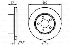 2x Bremsscheibe für Bremsanlage Vorderachse BOSCH 0 986 478 694