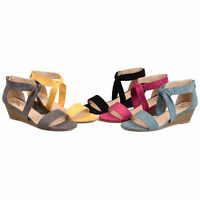 Brinley Co. Womens Knot Sandal Wedge
