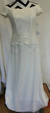 CHADWICK'S Ivory Lace Off Shoulder Wedding Formal Dress Sz 6P NWT #CB1-10