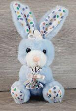 "Vintage 1988 Stuffed Bunny Easter Rabbit Dan-Dee 8"" Purple Jelly Beans Small"