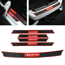 5x Black Car Bumper Door Plate Sill Scuff Cover Anti Scratch Sticker Accessories