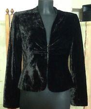 Oky Coky Spain Black/ Dark Brown Velvet Jacket Hook and Eye 38 RRP £255