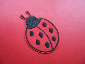 LADYBIRD EMBROIDERED BADGE SEW ON / IRON ON PATCH