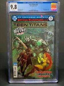 CGC 9.8 Teen Titans 12 1st Batman Who Laughs White Pages DC Robin