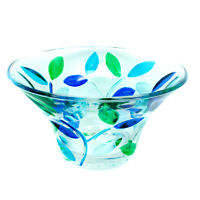 Murano Vetro Dolce Caramelle Piatto Ciotola Gioielli Vassoio Circolare Blu Verde