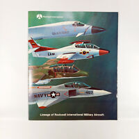 1976 Rockwell International Military Aircraft Lineage Timeline Poster Brcohure