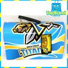98017 GOLD COAST TITANS NRL FOOTBALL RETRO TIN TOTE SCHOOL WORK LUNCHBOX LUNCH