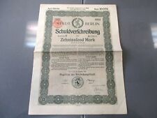 KAPPYS KS-1210  GERMAN WWI REPARATION BONDS ISSUED IN 1922 COMPLETE WITH COUPONS
