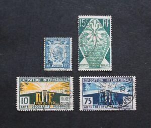 FRANCE - 1924-25 SCARCE EARLY LOT VFU VALUES RR