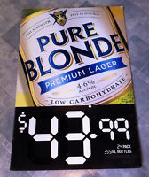 Vintage Pure Blonde Lager Corflute Advertising Display Sign