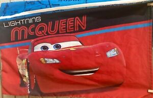 Disney Pixars Cars 2 Sided Pillowcase Lightning McQueen Team 95 Piston Cup CLEAN