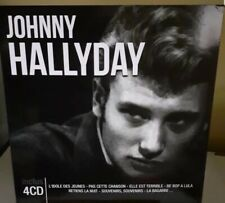 johnny hallyday  format 30 cm avec 4 cd ( dans pochette ouvrante ) rare