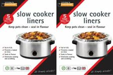 2 X Packs SLOW COOKER Liners Pk of 5 For Round & Oval Slow Cookers