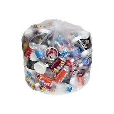 Brighton Trash Bags 55-60 Gallon 38x58 Low Density 1 Mil Clear 100 CT 814860