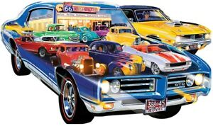 """Jigsaw Puzzle Vehicle American Muscle Cars Freeform 1000 piece NEW 38½"""" x 22½"""""""