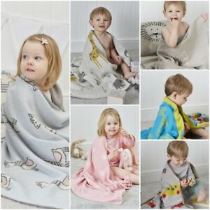 100% NATURAL COTTON EXTRA SOFT CARDIGANS KNITTED BABY BLANKETS FOR ALL SEASON