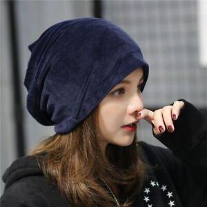 Velvet Winter Beanie Cap Warm Hat Knit Plain Ski Skull Cuff Slouch Women Men Hot