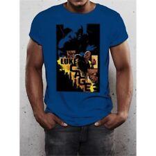 Camisetas de hombre azul LA color principal azul