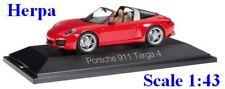 Porsche 911 Targa 4S rouge - HERPA -  Echelle 1/43