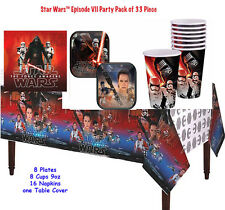 Star Wars Episode VII The Force Awakens Birthday Party Decorations -Pack Of 33