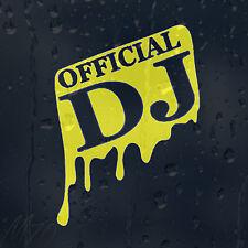 Official DJ Car Decal Vinyl Sticker For Bumper Panel Window