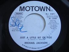PROMO Michael Jackson Just a Little Bit of You 1975 45rpm VG++