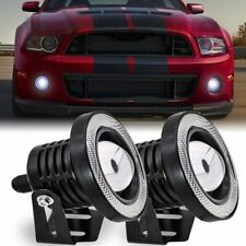"Pair 2.5"" Car Projector Led Fog Light Cob Halo Angel Eye Ring Bulb Super White (Fits: Neon)"
