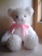 "White Shaggy Hair Teddy Bear Plush 22"" stuffed animal boys and girls 3+"