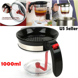 Fat Separator With Bottom Release - 4 Cup Gravy & Fat Separator with Strainer