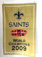 New Orleans Saints 2009 NFL Super Bowl XLIV Champions Banner 2' x 3'