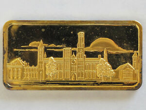 Smithsonian Institute Silver Art Bar Hamilton Mint America the Beautiful P0302