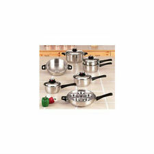 Limited Life Time Stainless Steel Cookware Set 17 Piece Waterless Heavy Gauge
