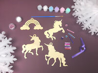Make Your Own UNICORN Christmas Baubles Decorations Craft Set ~ Kids Craft Kit