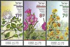 Israel Stamps MNH With Tab Year 2020 Summer Flowers